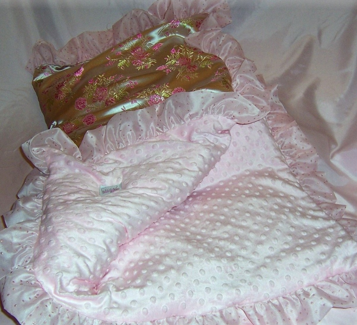 asian silk print blanket